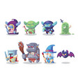 fantasy rpg game character monster and hero icons vector image
