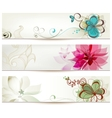 Floral banners in retro style vector image vector image