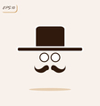 gentleman with a mustache wearing a hat and glasse vector image