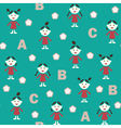 Girl and ABC vector image vector image