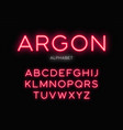 glowing neon typeface design alphabet vector image