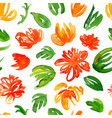hand drawn watercolor flowers pattern vector image