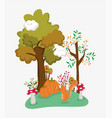 hello autumn season flat design vector image