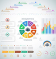 Huge Timeline Infographics Set with diograms pie vector image vector image