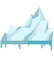 iceberg icon isolated on white background melting vector image