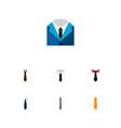 icon flat clothing set of cravat shirt necktie vector image vector image