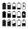 icon set battery level indicators vector image
