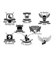 icons set for ice hockey club vector image vector image