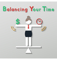idea balance your life business concept vector image vector image
