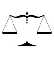 Justice scales silhouette - balanced Isolated on vector image