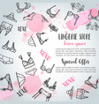 lingerie horizontal banners fashion bra and pantie vector image vector image