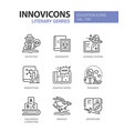 literary genres - line design style icons set vector image