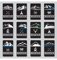 mountain cards set vector image vector image