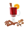 Mulled wine set vector image