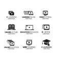 online education logotype set vector image vector image