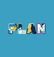plan concept word art vector image vector image