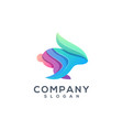 rabbit colorful logo design vector image vector image