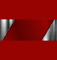 red metal perforated 3d texture vector image