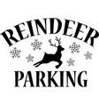 reindeer parking on white background vector image