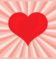 romantic love symbol of valentine day vector image
