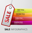 sale infographics vector image vector image