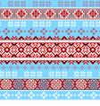 seamless tracery Nordic pattern vector image
