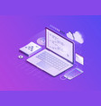 software development isometric vector image