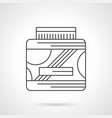 sports supplements flat line icon vector image vector image