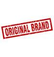 square grunge red original brand stamp vector image vector image