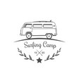 surfing camp logotype vector image vector image