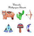 watercolor multipurpose elements collection vector image
