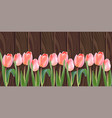 white tulip flowers realistic banner vector image vector image