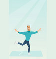young caucasian male figure skater vector image vector image