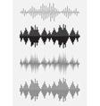 Sound equalizer graphic set vector image