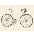 Bicycle Racing Bike Hand Drawn Sketch vector image