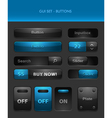 User Interface Elements - Buttons vector image