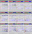 2017 calendar for business template vector image vector image