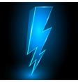3D Sparkling Lightning Bolt Abstract Background vector image