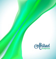 Abstract blurred green flow background vector image vector image