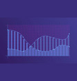abstract financial chart vector image
