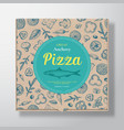 anchovy fish pizza realistic cardboard box vector image vector image