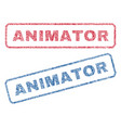 animator textile stamps vector image vector image