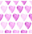 aquarelle violet seamless pattern with hearts vector image vector image