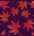 autumnal seamless pattern with maple leaves vector image vector image