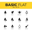 basic set bell icons vector image