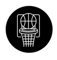 basketball play black icon sign on vector image vector image