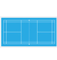 Blue badminton court vector image