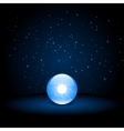 Blue Crystal Ball vector image