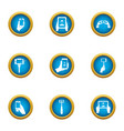 camera phone icons set flat style vector image vector image