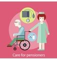 Care for Pensioners vector image